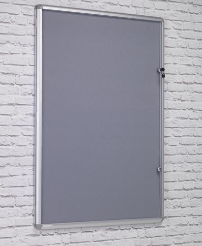Side Hinged Tamperproof Noticeboard - Grey - 900(w) x 1200mmm(h)