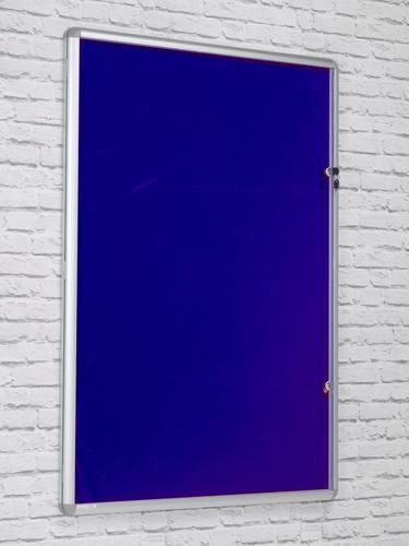 Side Hinged Tamperproof Noticeboard - Blue - 1200(w) x 1200mm(h)