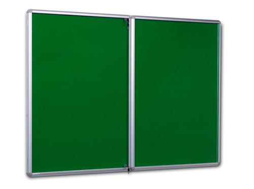 Side Hinged Tamperproof Noticeboard - Green - 1800(w) x 1200mm(h)