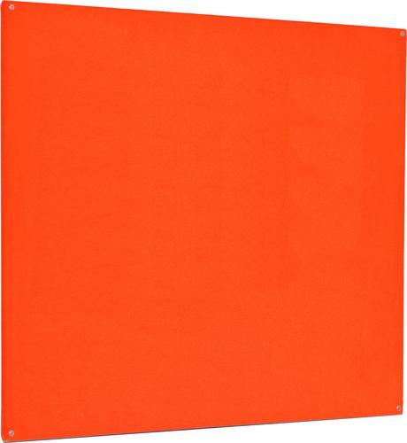 Accents Unframed Noticeboard - Orange - 900(w) x 600mm(h)