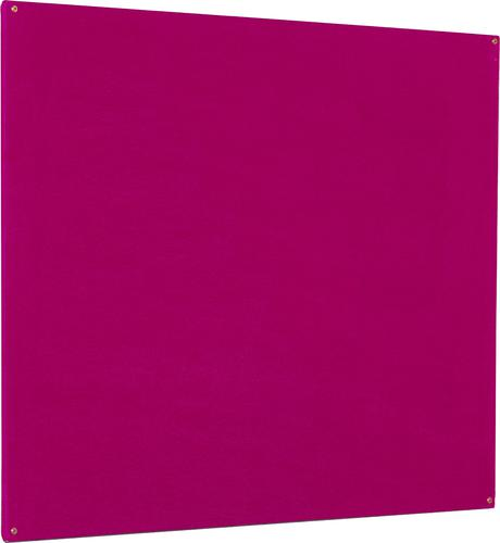 Accents Unframed Noticeboard - Plum - 2400(w) x 1200mm(h)