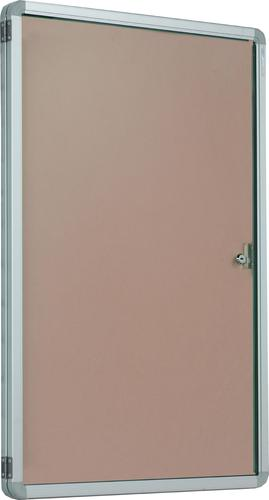 Accents Side Hinged Tamperproof Noticeboard - Natural - 600(w)x 900mm(h)