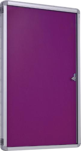 Accents Side Hinged Tamperproof Noticeboard - Plum - 600(w)x 900mm(h)