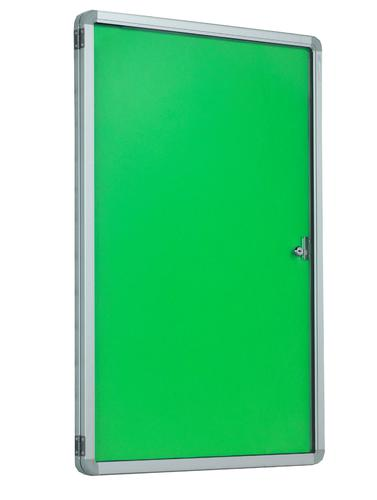 Accents Side Hinged Tamperproof Noticeboard - Light Green - 900(w) x 1200mmm(h)