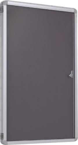 Accents Side Hinged Tamperproof Noticeboard - Charcoal - 1200(w) x 1200mm(h)