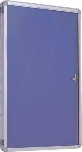 Accents Side Hinged Tamperproof Noticeboard - Lilac - 1200(w) x 1200mm(h)