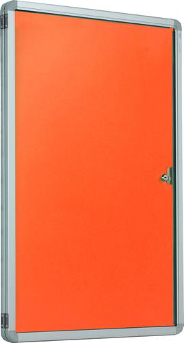 Accents Side Hinged Tamperproof Noticeboard - Orange - 1200(w) x 1200mm(h)