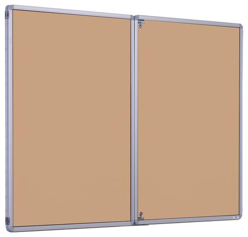 Accents Side Hinged Tamperproof Noticeboard - Natural - 1800(w) x 1200mm(h)