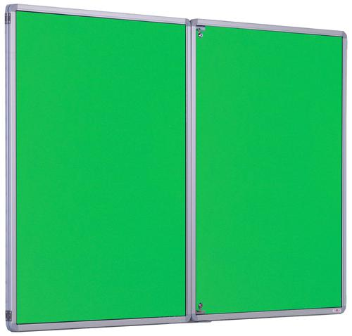 Accents Side Hinged Tamperproof Noticeboard - Light Green - 2400(w) x 1200mm(h)