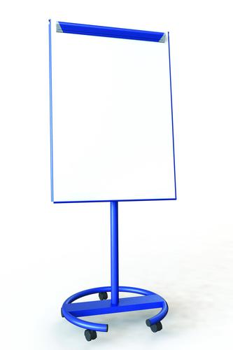 Ultramate Magnetic Round Base Flip Chart Easel -  Blue