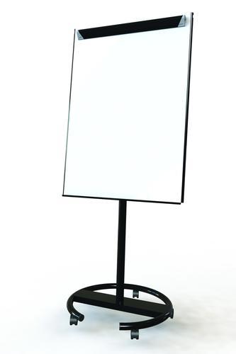 Ultramate Magnetic Round Base Flip Chart Easel -  Black