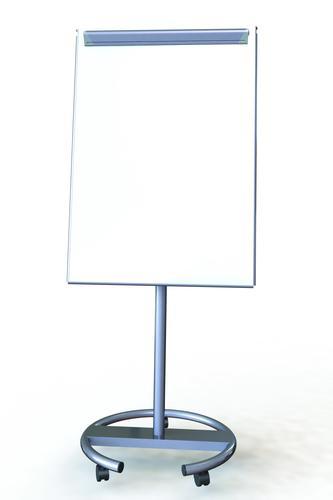 Ultramate Magnetic Round Base Flip Chart Easel -  Grey