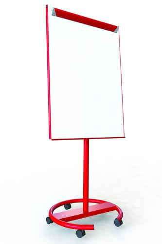 Ultramate Magnetic Round Base Flip Chart Easel -  Red