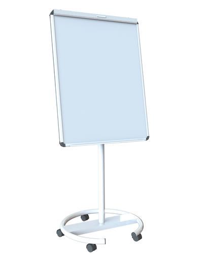 Ultramate Magnetic Round Base Flip Chart Easel -  White