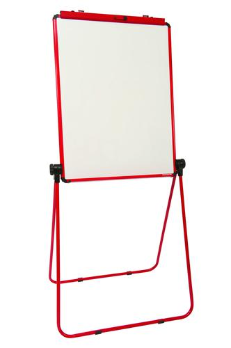 Ultramate Magnetic Loop Leg Flip Chart Easel -  Red