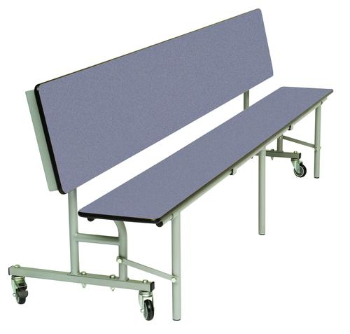 Mobile Convertible Folding Bench Unit - Blue Top/Blue Bench - 735mm height