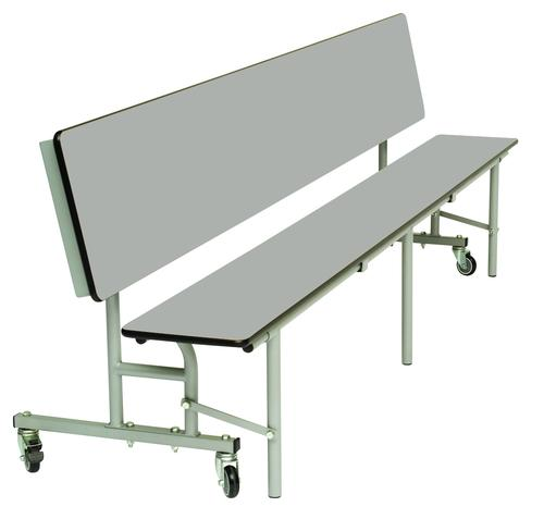 Mobile Convertible Folding Bench Unit - Dove Top/Dove Bench - 735mm height