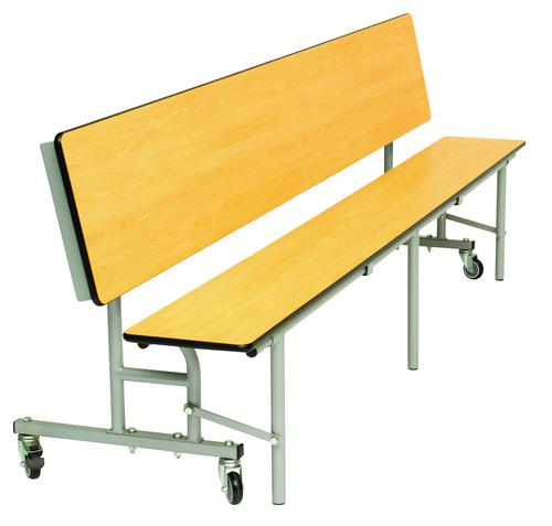 Mobile Convertible Folding Bench Unit - Maple Top/Maple Bench - 735mm height