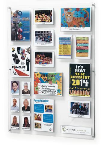 Crystal Wall School Achievements Board (Portrait) 18 Pocket