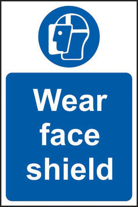 Mandatory Self-Adhesive Vinyl Sign (200 x 300mm) - Wear Face Shield