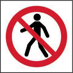 Prohibition Rigid PVC Sign (200 x 200mm) - No Thoroughfare Symbol