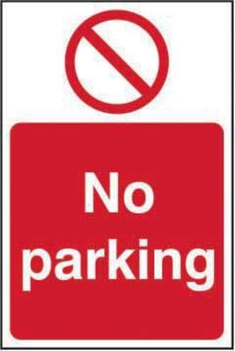 No Parking' Sign; Self-Adhesive Vinyl (200mm x 300mm)