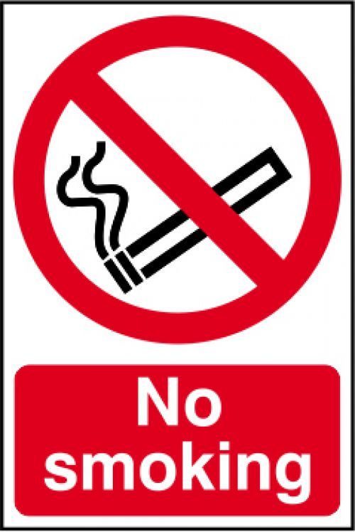 No Smoking sign (148 x 210mm). Manufactured from strong rigid PVC and is non-adhesive; 0.8mm thick.