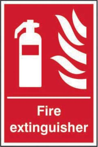 Fire Extinguisher' Sign; Self-Adhesive Vinyl (200mm x 300mm)