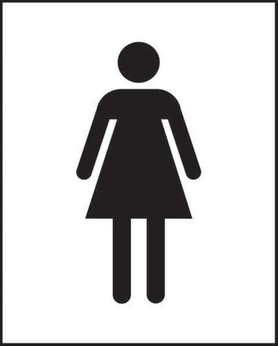 Female Symbol' Sign; Self-Adhesive Vinyl (200mm x 250mm)