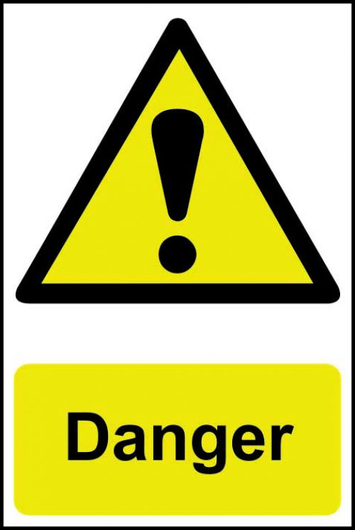 Spectrum Industrial Danger S/A PVC Sign 200x300mm 1301