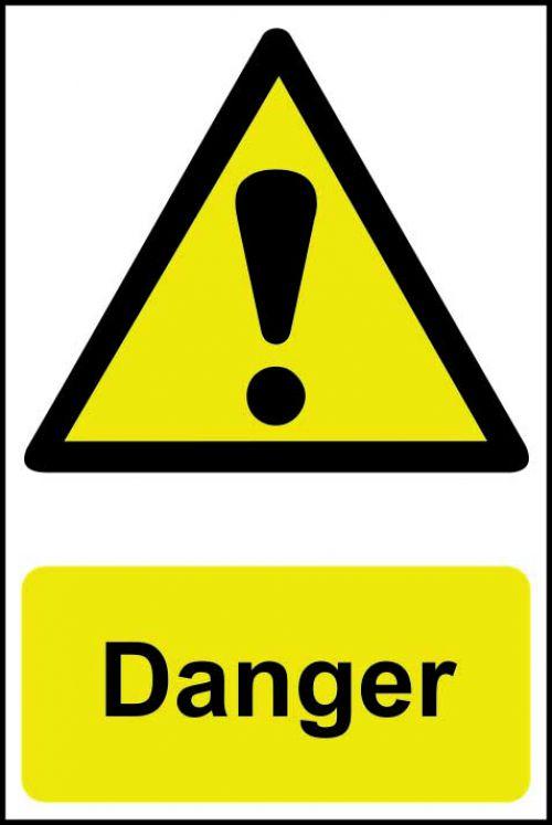 Spectrum Industrial Danger S/A PVC Sign 200x300mm 1301