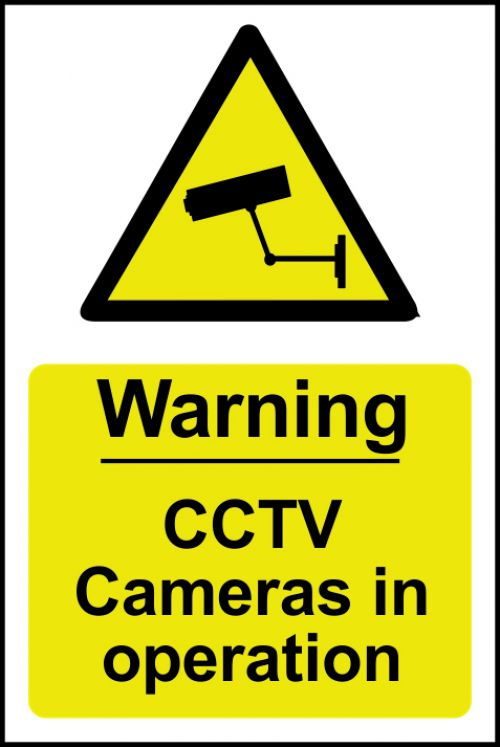 Spectrum Industrial Warning CCTV Cameras In Op S/A PVC Sign 200x300mm 1311