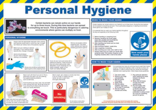Personal Hygiene' Sign; Laminated Paper; Safety Poster (590mm x 420mm)