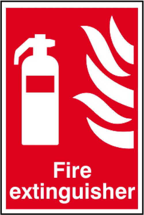 Self adhesive semi-rigid PVC Fire Extinguisher Sign (200 x 300mm). Easy to fix; simply peel off the backing and apply to a clean dry surface.