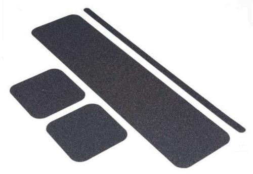 High grip non-slip floor treads with black finish; 150 x 609mm PK10