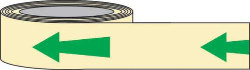 PSPA Class B Photoluminescent Arrow Tape 80mm x 10m for way-finding in dark