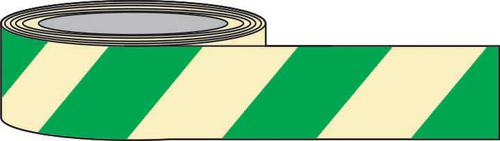 PSPA Class B Photoluminescent Green Chevron Tape 80mm x 10m for way-finding in dark