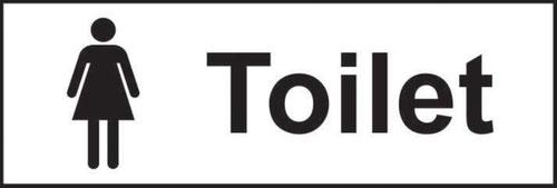 Toilet Ladies' Sign; Non-Adhesive Rigid 1mm PVC Board; (300mm x 100mm)