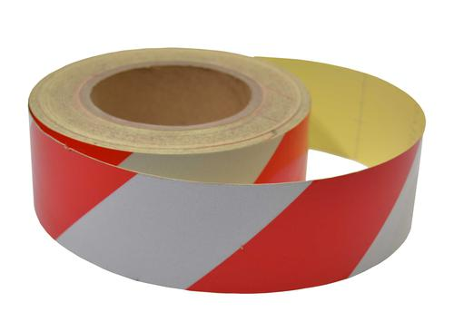 Engineering grade reflective tape red/white 50mm x 25m