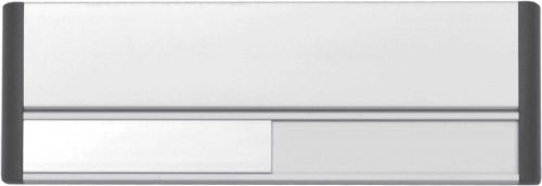 Door Slider System ; Silver Anodised With Black End Caps & Black Text (220mm x 75mm)