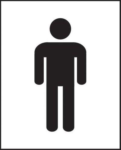 Male Symbol' Sign; Self-Adhesive Vinyl; (125mm x 200mm)