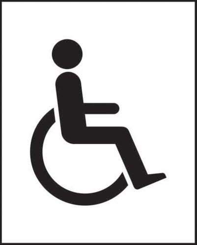 Disabled Symbol' Sign; Self-Adhesive Vinyl; (200mm x 250mm)