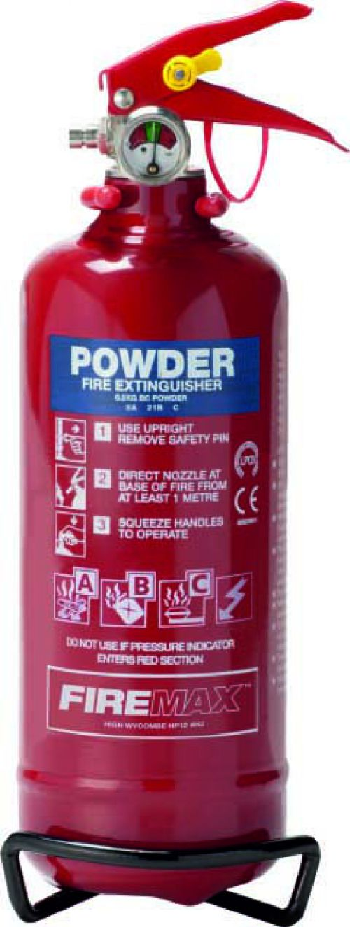 800g ABC Powder (5A 34B C) Fire Extinguisher with corrosion resistant finish and squeeze grip operation. Comes with a 5 year guarantee.