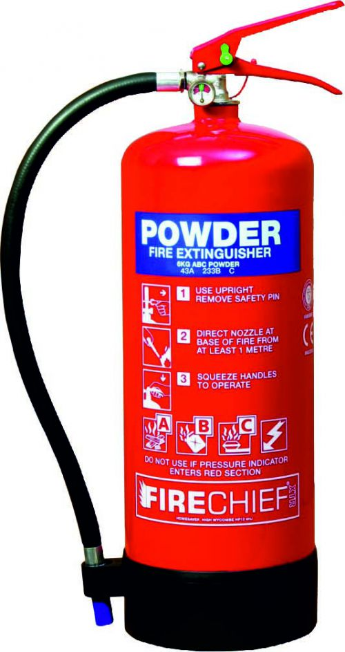Spectrum Industrial Fire Extinguisher ABC Powder 9kg 14369