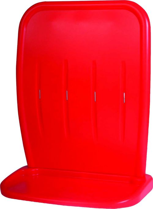 Double fire extinguisher stand manufactured from impact and chemical resistant plastic. Supplied in sections for easy transportation and assembly.