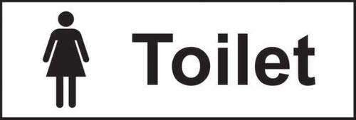 Toilet Ladies' Sign; Self-Adhesive Vinyl; (300mm x 100mm)