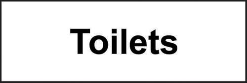 Toilets' Sign; Self-Adhesive Vinyl; (300mm x 100mm)