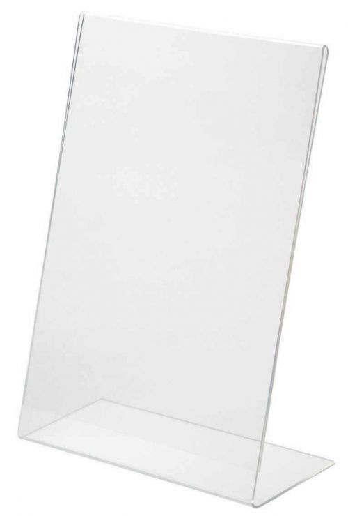 Injection moulded clear acrylic sign holder A4