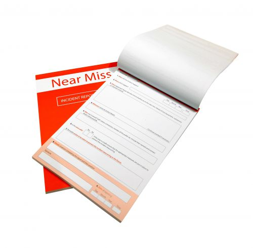 A4 near miss report book is a quick; easy and accurate method for recording near misses within the workplace. Holds up to 100 incidents.
