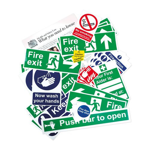 Health And Safety Poster Pack, Self Adhesive Vinyl